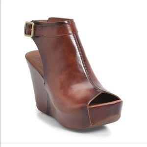 KORK-EASE Wedge Sandal BERIT Brown sz 8